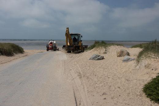 Strandzugang in Lingreville-Plage