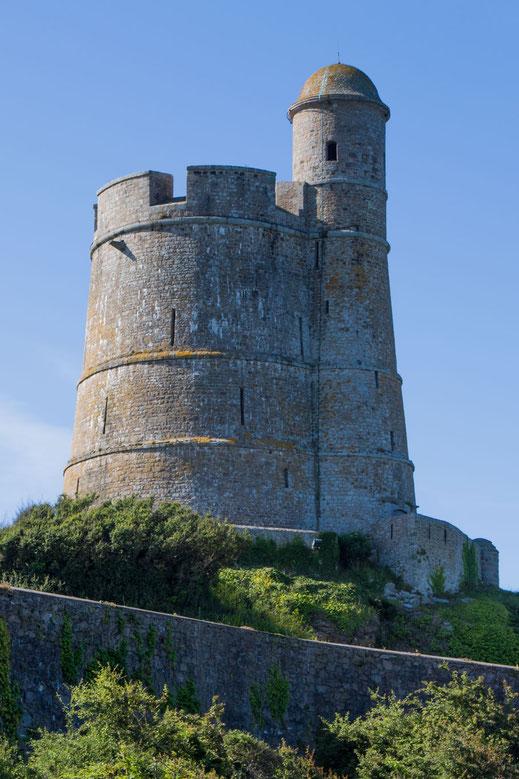 Tour Vauban de la Houge in Saint-Vaast-la-Hogue, Manche, Cotentin, Normandie