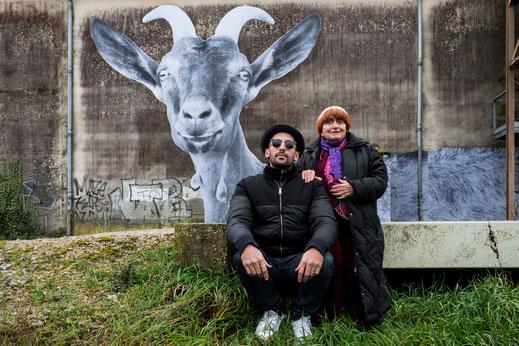 Filmtipp, Visages Villages, Normandie, treetart-Künstler JR und Filmemacherin Agnès Varda.