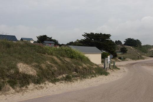Strand von Blainville-sur-Mer in der Normandie