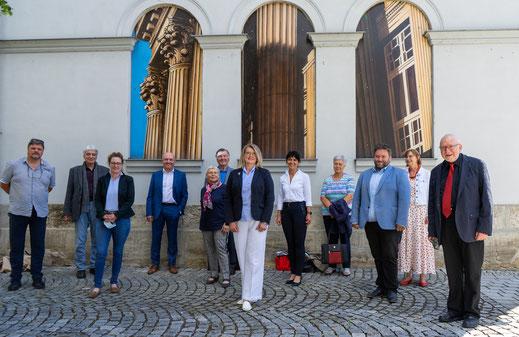 Der Vorstand bei der Mitgliederversammlung 2018