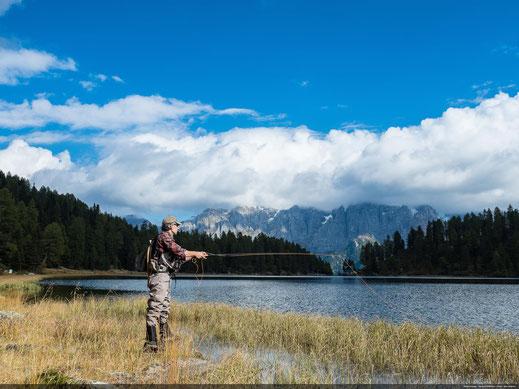 Val di Sole Lago delle Malghette Pesca Trentino Fishing