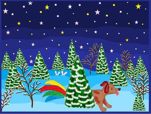 I место. Новогодняя загадка. Мартынова Анастасия, 4 класс  (MS Paint)