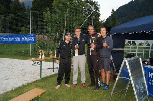 Herren Beachvolleyball Turnier in Schruns, 1. Platz