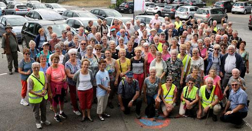 Marcheurs 2ème groupe en après-midi -  Circuit 8kms La Grande Maillardière