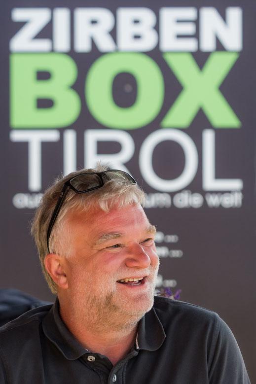 Unternehmensgründer Schatzmeister 4x4, Zirbenbox Erfinder Christian Schatz