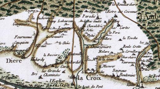 Carte de CASSINI   (1718)