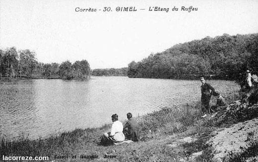 photo ancienne de l'étang de Ruffaud
