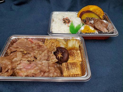 特選牛すき焼き&焼肉弁当