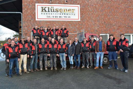 Das Team der Klüsener Bauunternehmung aus Coesfeld-Lette