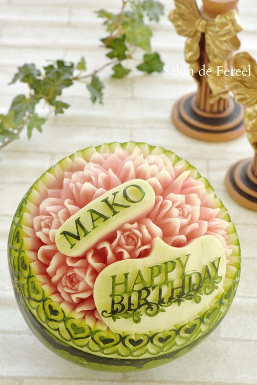 カービング スイカ 彫刻 誕生日 結婚式 メロン フルーツカービング 教室 大阪 薔薇 ソープカービング プレゼント オーダー りんご 石けん 相撲