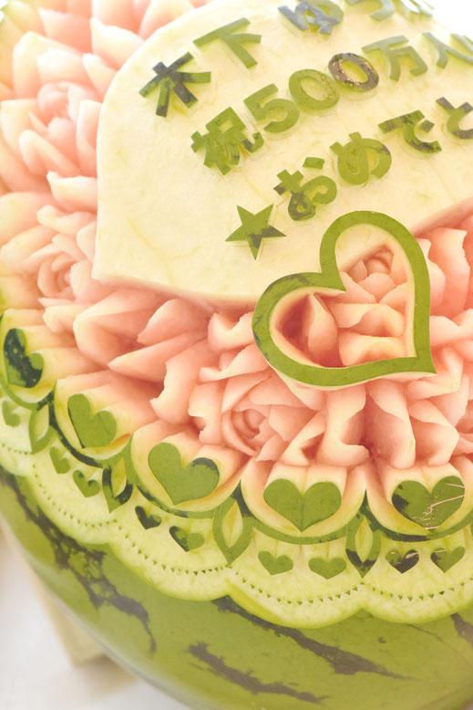 #カービング #大阪 #習い事 #彫刻 #フルーツカービング #ソープカービング #スイカ #フルーツ #カッティング #soap #soapcarving #fruitscarving #cutting #carving #watermelon #fruit #fruits #melon #木下ゆうか