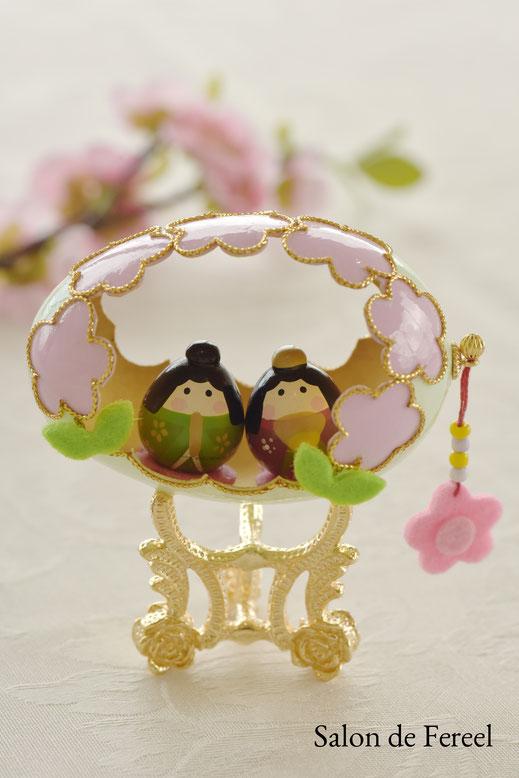 ひな祭り ひなまつり エッグアート 雛人形 大阪 習い事