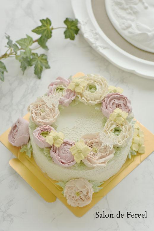 フラワーケーキ  大阪 習い事 ケーキ 教室 スイーツ