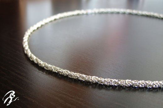 collier argent maille royale