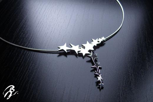 pendentif étoiles argent