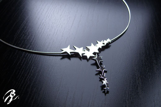 colgante plata estrellas