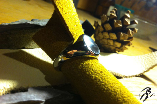 sello plata anillo