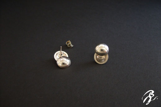 boucles d'oreilles argent demi-ronde