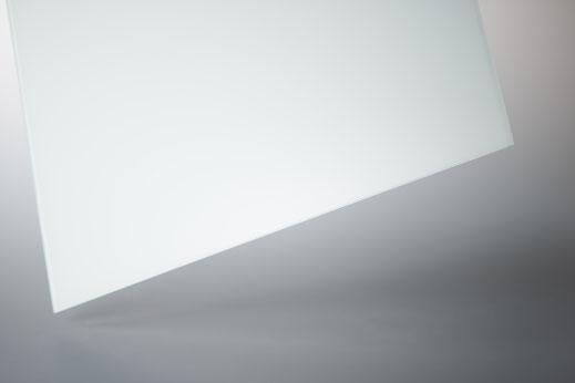 4mm ESG Glas Float weiß lackiert