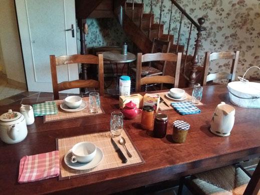 Petit déjeuner et confitures maisons pour le petit déjeuner