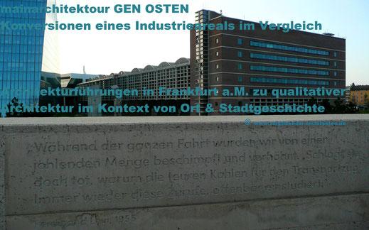 Architekturführung in Frankfurt : mainarchitektour GEN OSTEN - Chancen urbaner Revitalisierung im Ostend | Vergleich dreier Konversionen unterschiedlicher Größe | www.voigtlaender-architekten.de