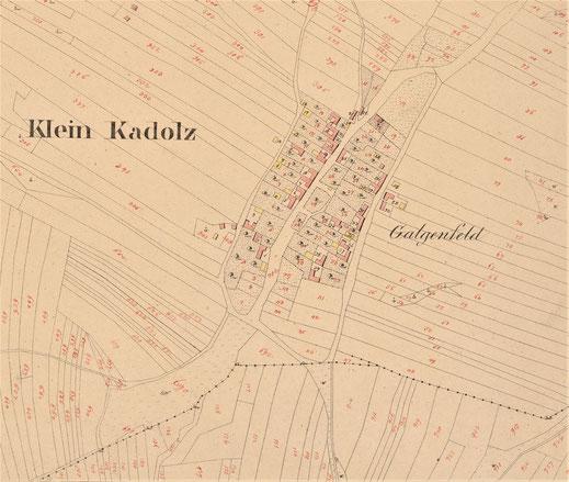 Ausschnitt aus dem fanziszeischen Kataster 1822. Quelle: NÖLA