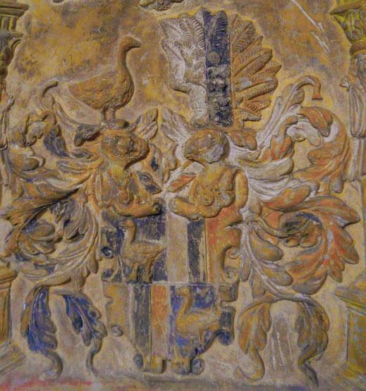 Wappen der Ritter von Enzersdorf, 16. Jahrhundert, in der Pfarrkiche