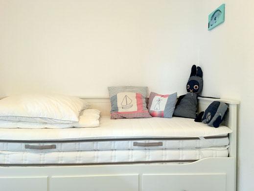 3.Schlafzimmer mit ausziehbarem Gästebett 80 - 160