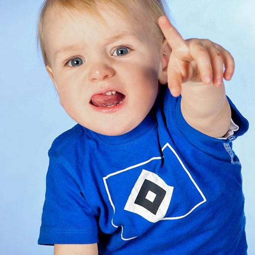 Kind, HSV-Shirt, Kinderserie, blau