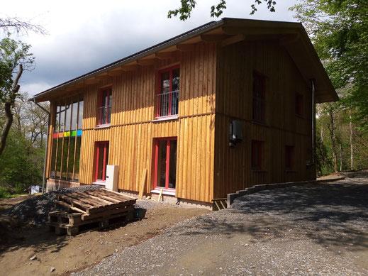 Zimmerei Treibholz Haus Birkwiese Strohballenhaus