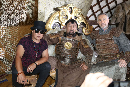 The Rockstar Dschinghis Khan, the actor Dschinghis khan and Wolfgang Heichel of Dschinghis Khan