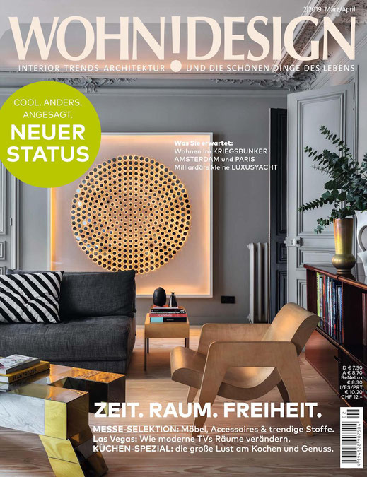 Recycled yoga mats are part of the german magazine WohnDesign.