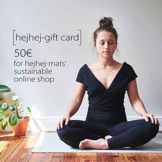 gift card value 50€ for your sustainable and eco friendly yoga mat