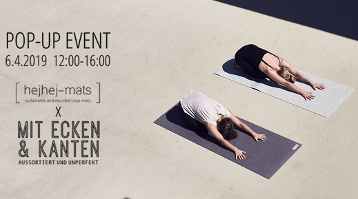First hejhej pop up event where you can purchase our recyceld mats.