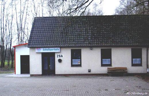 Die 1980 grundlegend renovierte Schützenhalle auf dem Grundstück des ehemaligen Schützenhofs (2006)