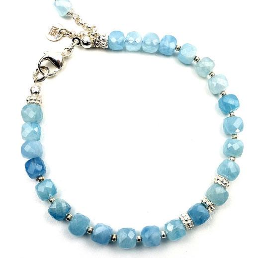 Damen-Armband Aquamarin, Silber 925