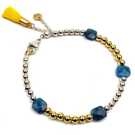 86544621789 Damen-Armband Sterlingsilber mit Apatit und Hämatit
