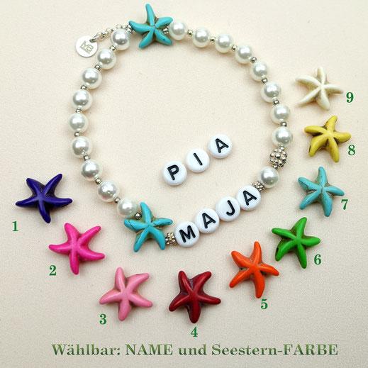 Damen-Armband Muschelkernperlen, Krsitalle, Jade, Rocailles, Silber 925