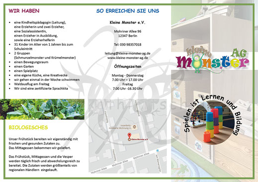 Flyer: KITA - Kleine Monster AG (Seite 1)
