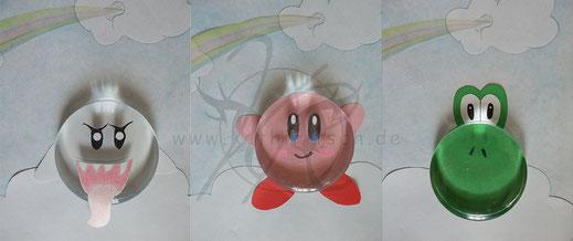 Glaskugelbilder: buhu, Kirby und Yoshi