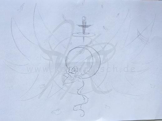 Magical-Kombi-Brosche (Skizze)