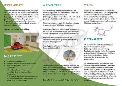 Flyer: KITA - Kleine Monster AG (Seite 2)