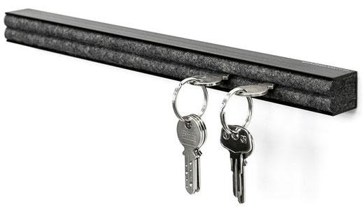 design leiste schiene board swiss schlüsselaufbewahrung anthrazit black schwarz aluprofil