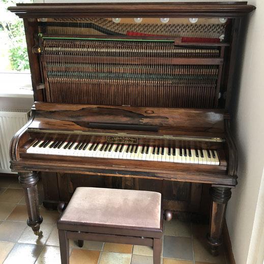 Oberdämpfer-Klavier & Gradsaiter
