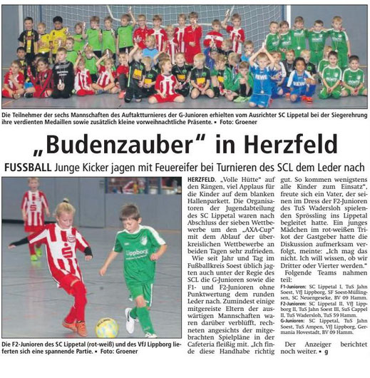 Bericht Soester Anzeiger vom 17.12.21018