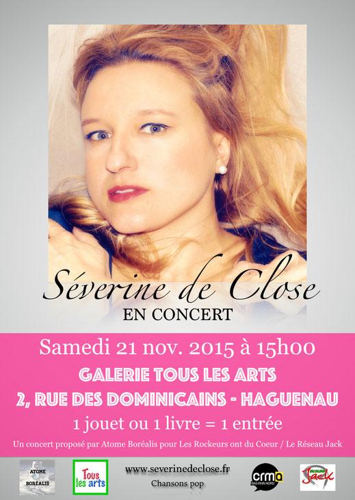 Atome Borealis concert Haguenau rockeurs ont du coeur Séverine de Close 2015