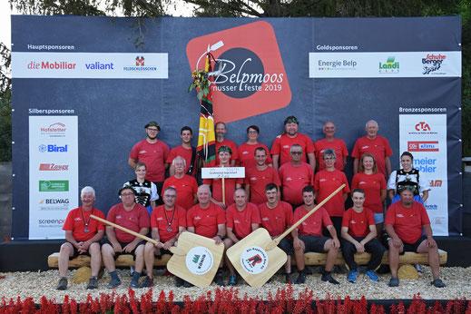 Mannschaftsfoto vom 1. Rang am MWHV Hornusserfest 2020 in Belp