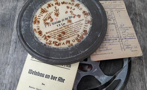 """Wir sind im Besitz einer historischen 16mm Filmrolle zum Thema """"Weinanbau an der Ahr"""". Ein für uns unbezahlbares Film-Dokument aus dem Ahrtal."""