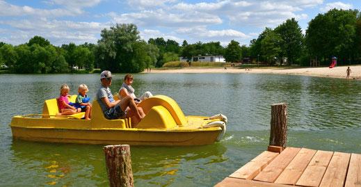 Tretbootfahren am Wißmarer See
